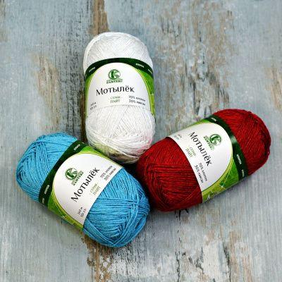 Заказать пряжу Мотылек (Камтекс) для вязания — пряжа Малик