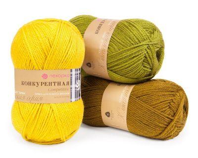 Заказать пряжу Конкурентная (Пехорка) для вязания — пряжа Малик